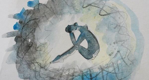 partner has trauma watercolor painting
